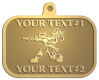 Ace Recognition Gold KeyTag, Medal, Pendant - with your text and logo - paint balls, paint guns, paint, paintball, paintballer, paintballing, fun, game, gun, hit, hobby, recreation, sports