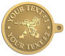 Ace Recognition Gold KeyTag - with your text and logo - paint balls, paint guns, paint, paintball, paintballer, paintballing, fun, game, gun, hit, hobby, recreation, sports