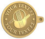 Ace Recognition Gold KeyTag - with your text and logo - ping pong, paddles, table tennis