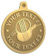 Ace Recognition Gold KeyTag, Medal, Pendant - with your text and logo - ping pong, paddles, table tennis