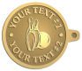 Ace Recognition Gold KeyTag - with your text and logo - bowling, bowling pins, bowling balls, bowling-ball, games,  kingpin, lane, leisure, pins, sport