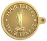 Ace Recognition Gold KeyTag - with your text and logo - darts, archery, arrows, bullseye, fun, games, success, targets, triumph, win, leisure, luck, mark, success, target, triumph, win