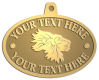 Ace Recognition Gold KeyTag, Medal, Pendant - with your text and logo - lions, lion heads, emblems, symbols, themes, animals, zoo, jungle