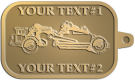 Ace Recognition Gold KeyTag - with your text and logo - road grader, mining equipment, grader, heavy equipment, earthmovers, earth movers