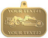 Ace Recognition Gold KeyTag, Medal, Pendant - with your text and logo - road grader, mining equipment, grader, heavy equipment, earthmovers, earth movers