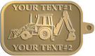 Ace Recognition Gold KeyTag - with your text and logo - front loaders, excavators, back hoes, backhoes, loaders, trenchers, excavators, excavating, equipment, diggers