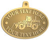 Ace Recognition Gold KeyTag, Medal, Pendant - with your text and logo - bobcats, construction, industrial, machine, machinery