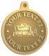 Ace Recognition Gold KeyTag, Medal, Pendant - with your text and logo - asphalt paving machine, paver, roller, machinery, equipment, heavy, steam rollers, steamrollers, drum compactors