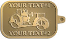 Ace Recognition Gold KeyTag - with your text and logo - asphalt paving machine, paver, roller, machinery, equipment, heavy, steam rollers, steamrollers, drum compactors