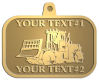 Ace Recognition Gold KeyTag, Medal, Pendant - with your text and logo - bulldozers, machinery, equipment, heavy