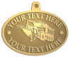 Ace Recognition Gold KeyTag, Medal, Pendant - with your text and logo - snow plows, plows, snow removal, road equipment, heavy equipment