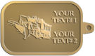 Ace Recognition Gold KeyTag - with your text and logo - snow plows, plows, snow removal, road equipment, heavy equipment