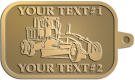 Ace Recognition Gold KeyTag - with your text and logo - graders, machinery, road equipment, heavy equipment, highway maintenance