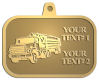 Ace Recognition Gold KeyTag, Medal, Pendant - with your text and logo - logging equipment, logging truck, trucking, cargo, industry, logging, truck, lumber