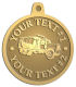 Ace Recognition Gold KeyTag, Medal, Pendant - with your text and logo - cement truck, concrete, construction, heavy equipment, road construction, home renovation