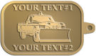 Ace Recognition Gold KeyTag - with your text and logo - snow removal, truck, plow, pick up, pick-up, snow plow