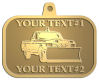 Ace Recognition Gold KeyTag, Medal, Pendant - with your text and logo - snow removal, truck, plow, pick up, pick-up, snow plow