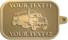 Ace Recognition Gold KeyTag - with your text and logo - tanker trucks, tank trucks, truck tankers, truck tanks, carriers, haulers, transportation