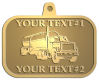 Ace Recognition Gold KeyTag, Medal, Pendant - with your text and logo - tanker trucks, tank trucks, truck tankers, truck tanks, carriers, haulers, transportation