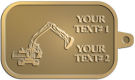 Ace Recognition Gold KeyTag - with your text and logo - diggers, excavators, excavation, excavation equipment, excavation machines, excavation machinery, digger tractors, crawler excavators