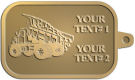 Ace Recognition Gold KeyTag - with your text and logo - dump trucks, standard dump trucks, trucks, construction vehicles, dumper, tip trucks, tipper lorry, tipper trucks, tippers, tipper lorries, transportation