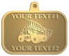 Ace Recognition Gold KeyTag, Medal, Pendant - with your text and logo - dump trucks, standard dump trucks, trucks, construction vehicles, dumper, tip trucks, tipper lorry, tipper trucks, tippers, tipper lorries, transportation