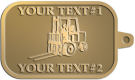 Ace Recognition Gold KeyTag - with your text and logo - forklifts, fork lifts, reach trucks, lift trucks, hoist trucks, industrial vehicles