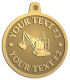 Ace Recognition Gold KeyTag, Medal, Pendant - with your text and logo - diggers, excavators, excavation, excavation equipment, excavation machines, excavation machinery, digger tractors, crawler excavators