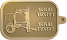Ace Recognition Gold KeyTag - with your text and logo - cement mixers, concrete mixers, masonry mixers, concrete, mortar