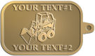 Ace Recognition Gold KeyTag - with your text and logo - bucket front loaders, wheel loaders, machinery , loaders, excavators, bulldozers