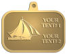 Ace Recognition Gold KeyTag, Medal, Pendant - with your text and logo - catboat, daggerboard, sailboats, sail boat, sailing ships, sailing boats, sails, sailing-boats