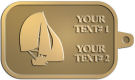 Ace Recognition Gold KeyTag - with your text and logo - catboat, daggerboard, sailboats, sail boat, sailing ships, sailing boats, sails, sailing-boats
