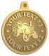 Ace Recognition Gold KeyTag, Medal, Pendant - with your text and logo - tractors, farm equipment, farm machinery, farm machines, field implements, farm implements