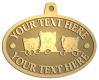 Ace Recognition Gold KeyTag, Medal, Pendant - with your text and logo - cats, kittens, felines, pets