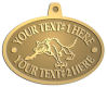 Ace Recognition Gold KeyTag, Medal, Pendant - with your text and logo - Sports, mascots, animals, wolf, wolves, teams, high school, college, university