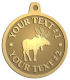 Ace Recognition Gold KeyTag, Medal, Pendant - with your text and logo - animals, antlers, antlered, bucks, bulls, caribou, deer, elk, forest, fur, game, grand, nature, north, outdoor, park, reindeer, wild, wildlife, woods, hunting