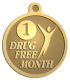 Ace Recognition Gold KeyTag, Medal, Pendant - with your text and logo - recovery, recovery celebration, recovery milestones, motivational, alcohol free, sobriety