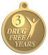 Ace Recognition Gold KeyTag, Medal, Pendant - with your text and logo - recovery, recovery celebration, recovery milestones, motivational, drug free, drug recovery