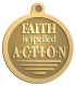 Ace Recognition Gold KeyTag, Medal, Pendant - with your text and logo - motivational, inspirational, faith is action