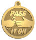 Ace Recognition Gold KeyTag, Medal, Pendant - with your text and logo - motivational, inspirational, pass it on