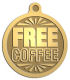 Ace Recognition Gold KeyTag, Medal, Pendant - with your text and logo - free, tokens, free tokens, free coffee, coffee, coffee tokens