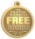 Ace Recognition Gold KeyTag, Medal, Pendant - with your text and logo - free, tokens, free rounds, rounds, round tokens
