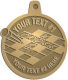 Ace Recognition Gold KeyTag, Medal, Pendant - with your text and logo - crossword puzzles, recreation, challenge, brainstorming, word puzzles, ability, activity, brainteasers, clues, newspapers, vocabulary, quiz, spelling, competition, contemplation, mental