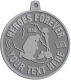Ace Recognition Pewter KeyTag, Medal, Pendant - with your text and logo - Military - Iraq - Fallen Solider Memorial - US Flag and ribbon - Heroes Forever