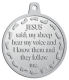 Ace Recognition Pewter KeyTag, Medal, Pendant - with your text and logo - Recovery - Jesus said; my sheep hear my voice and I know them and they follow me.  Religious, metal