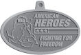 Ace Recognition Pewter KeyTag, Medal, Pendant - with your text and logo - Military - Fallen Soldier Memorial - Iraq - American Flag - American Heroes - Fighting For Freedom, metal, navy