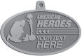 Ace Recognition Pewter KeyTag, Medal, Pendant - with your text and logo - Military - American Heroes - Fallen Soldier memorial - American Flag, metal, navy