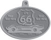 Ace Recognition Pewter KeyTag, Medal, Pendant - with your text and logo - Car designs - US route 66 - corvette - vintage cars - sports car - your text, route 66, route sixty six, route sixty-six, historic highway, historic road, mother road, transportation