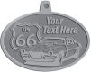 Ace Recognition Pewter KeyTag, Medal, Pendant - with your text and logo - Car designs - US route 66 - vintage cars - sports car - your text, route 66, route sixty six, route sixty-six, historic highway, historic road, mother road, transportation, metal