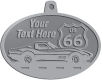 Ace Recognition Pewter KeyTag, Medal, Pendant - with your text and logo - Car designs - US route 66 - vintage cars - corvette - sports car - your text, route 66, route sixty six, route sixty-six, historic highway, historic road, mother road, transportation
